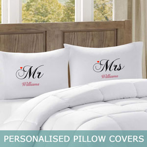 Personalised Pillow Covers.