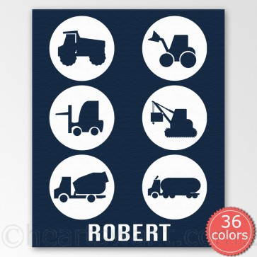 motor crazy personalised canvas