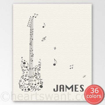 guitar personalised canvas