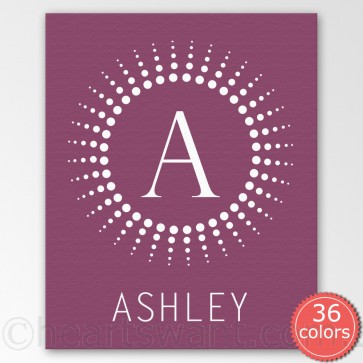 kids monogram personalised canvas
