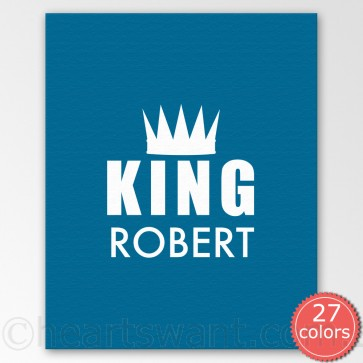 king personalised canvas