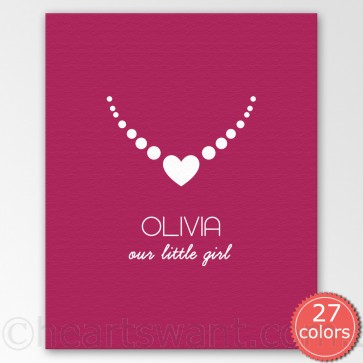 little girl personalised canvas