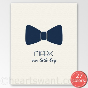 little man personalised canvas