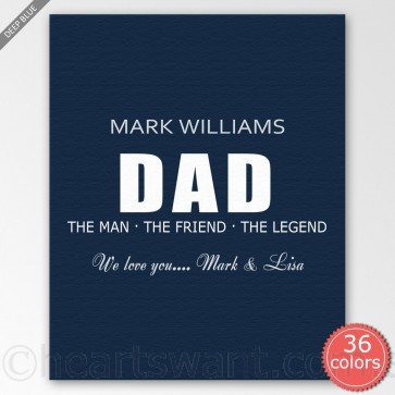 The Man Personalised Canvas Art