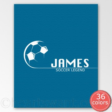 soccer personalised canvas