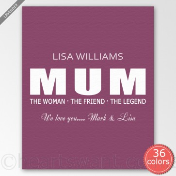 The Woman Personalised Canvas Art