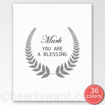 you are a blessing personalised canvas