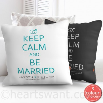 Keep Calm And Be Married Personalised Cushion Cover