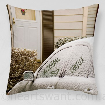 Snow Names Personalised Cushion Cover