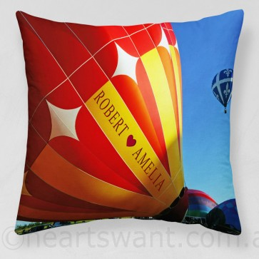 Flying High in Love Personalised Cushion Cover