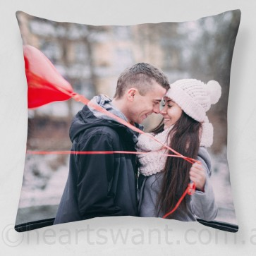 Couple Photo Cushion Cover / Throw Pillow