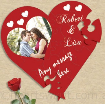 Love Heart Photo Personalised Jigsaw Puzzle