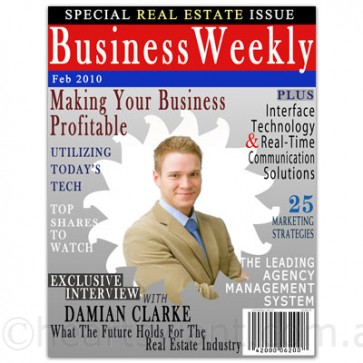 business magazine cover personalised
