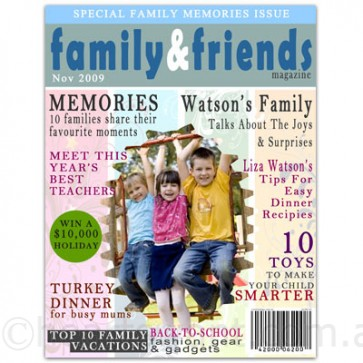 family & friends custom magazine cover