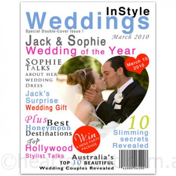 wedding personalised magazine cover