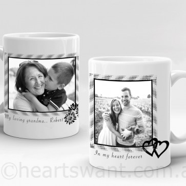 Black Frame Photo Personalised Mug