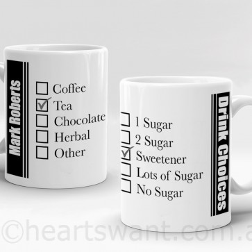 drink choices personalised mug