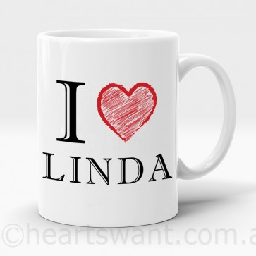 i love personalised mug
