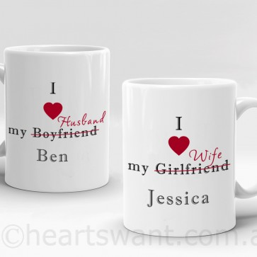 i love my partner personalised mug