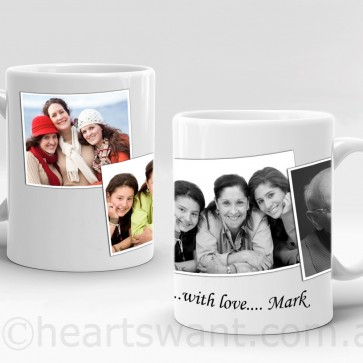 Photo Collage Mug - Standard, Black & White & Sepia