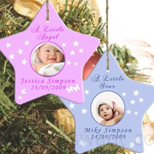 Baby Star Personalised Christmas Ornament