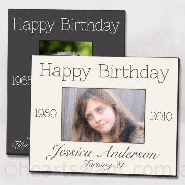 Birthday Classic Personalised Photo Frame