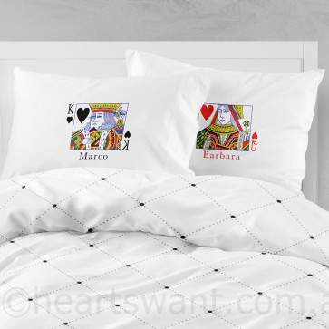 King & Queen Classic Personalised Pillowcases - 1