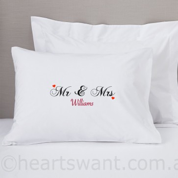 Mr and Mrs Classic Pillowcase
