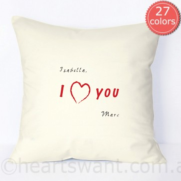 personalised i love you pillowcase