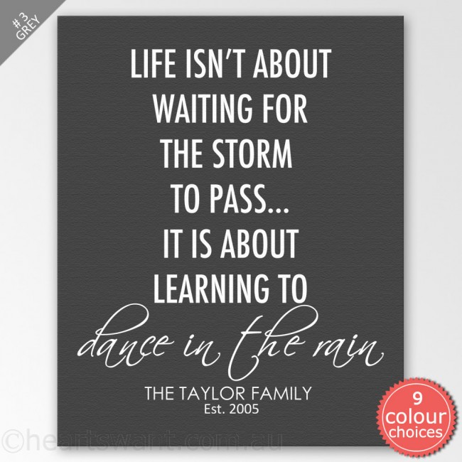 Dance In The Rain Personalised Canvas Art