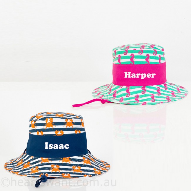 26478364cd0 personalised kids sun hat - Personalised Gifts by Hearts Want