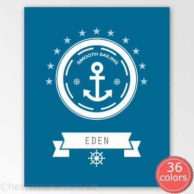 anchor personalised canvas