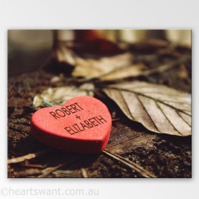 Candy Heart Personalised Canvas Art