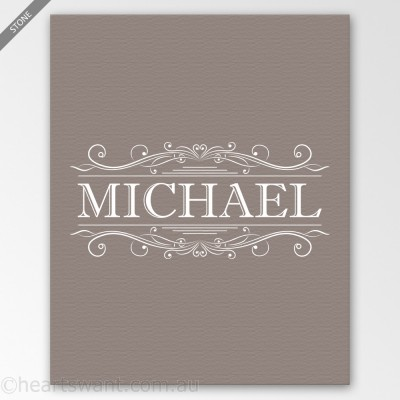 classic name personalised canvas