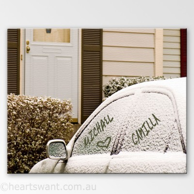 Snow Names Personalised Canvas Art