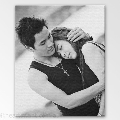 Couple Photo Canvas Art