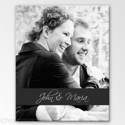 Couple Photo Expressions Canvas Art