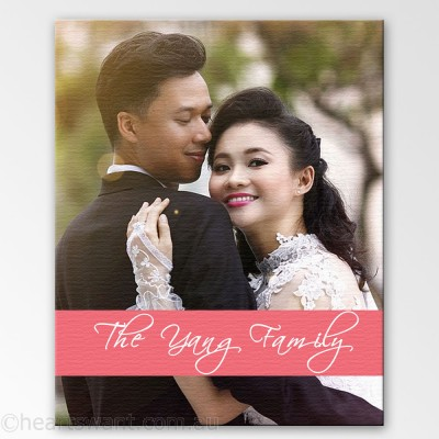 Couple Photo Expressions Canvas Art - Pink