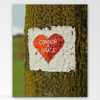 Tree Heart Personalised Canvas Art