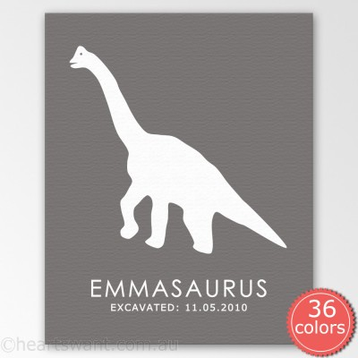 dinosaur Personalised canvas