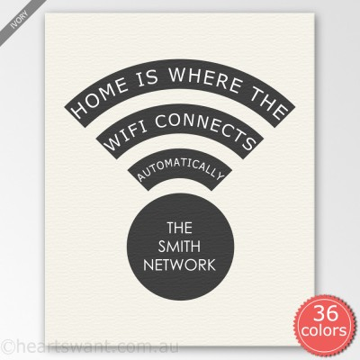 Wifi Connects Personalised Canvas Art