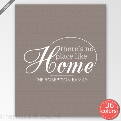 No Place Like Home Personalised Canvas Art