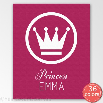 princess personalised canvas