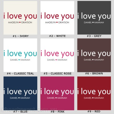 Classic I Love You Personalised Canvas Art