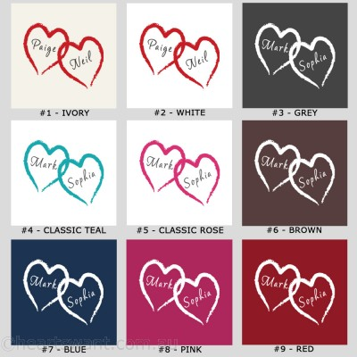 Romantic Love Hearts Personalised Cushion Cover