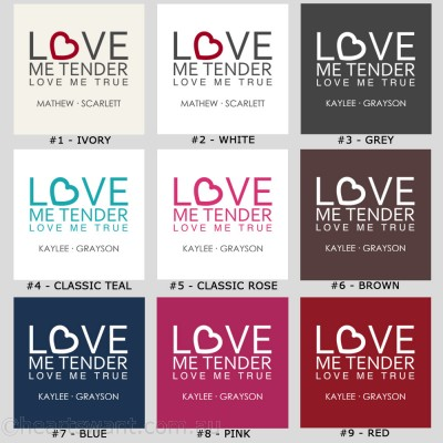 Love Me Tender Personalised Wall Art