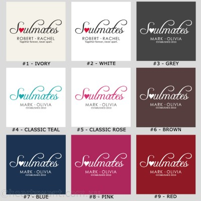 Soulmates Personalised Cushion Cover