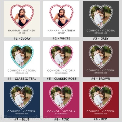 Classic Heart Photo Cushion Cover