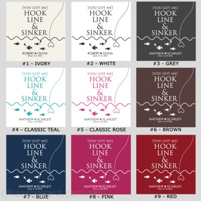Hook Line Sinker Personalised Cushion Cover