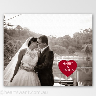 Couple Names Photo Canvas Art